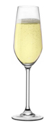 Bormioli Magnesium Flute/Champagne Crystal Glass, Italy